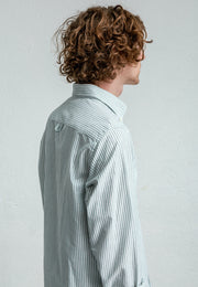 {{ tipo de producto }} CAMISA OXFORD RAYA VERDE BUTTON DOWN - Harrys 1982