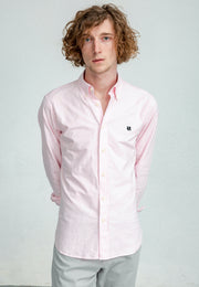 {{ tipo de producto }} CAMISA OXFORD ROSA BUTTON DOWN - Harrys 1982