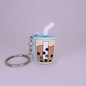 Boba Cup Keychain - Blue