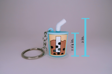 Load image into Gallery viewer, Boba Cup Keychain - Blue