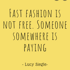 Lucy Siegle quote about fast fashion