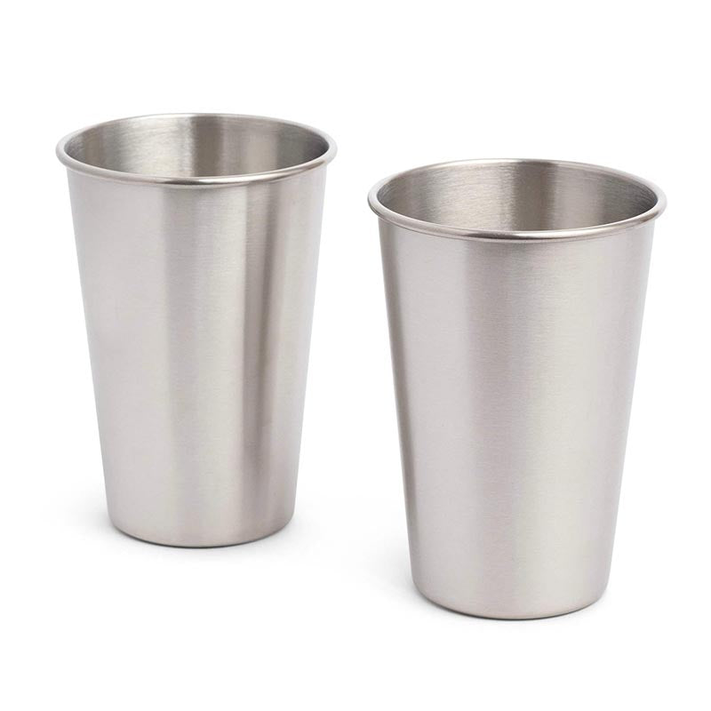 Stainless Steel Pint Cups Set of Two