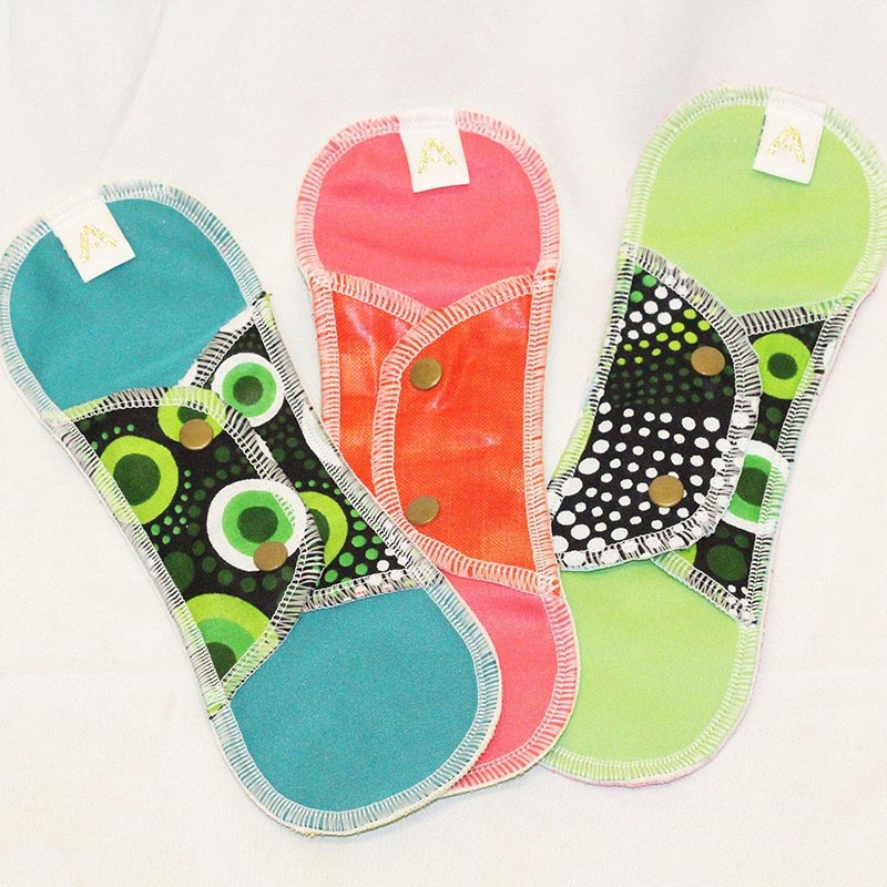 Reusable Sanitary Pads - Regular - 3 Pack - Style Pack 1 - Shop Online
