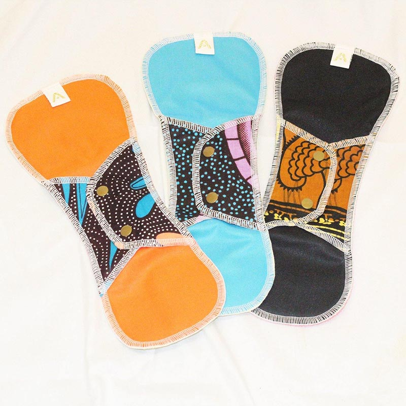 Reusable Sanitary Pads - Night Time - 3 Pack - Style Pack 1 - Shop Online