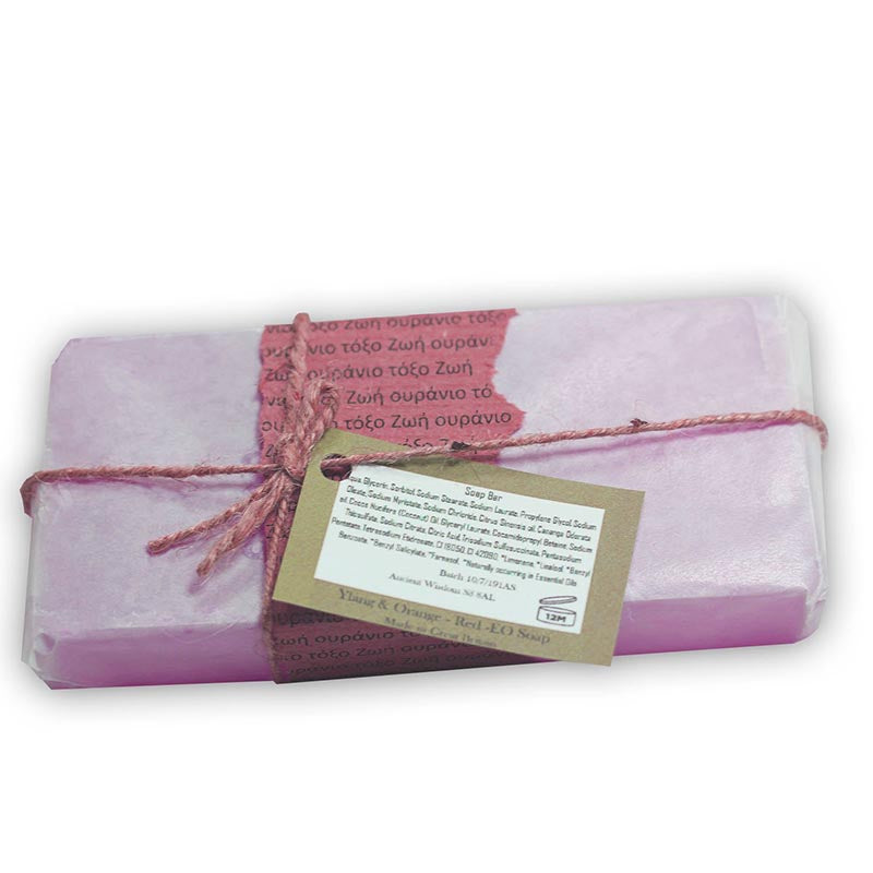 Aromatherapy Ylang and Orange Red Essential Oil Soap - Rainbow Life