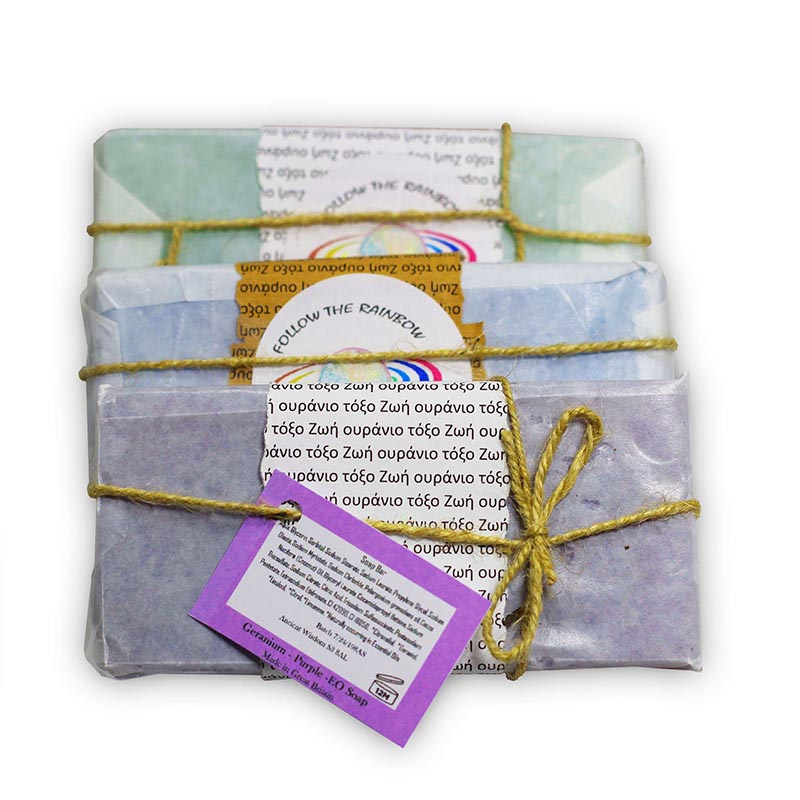 Aromatherapy Geranium Purple Essential Oil Soap - Rainbow Life