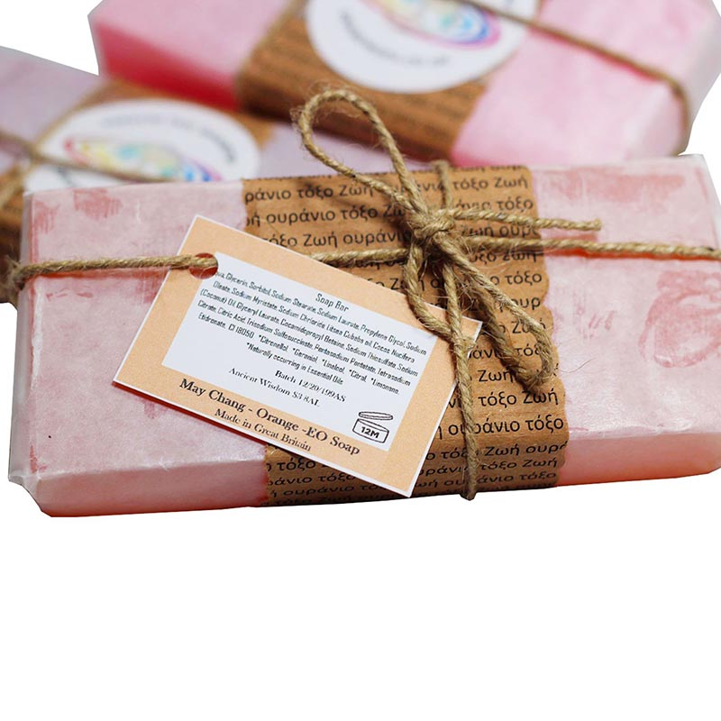 Aromatherapy May Chang Orange Essential Oil Soap - Rainbow Life