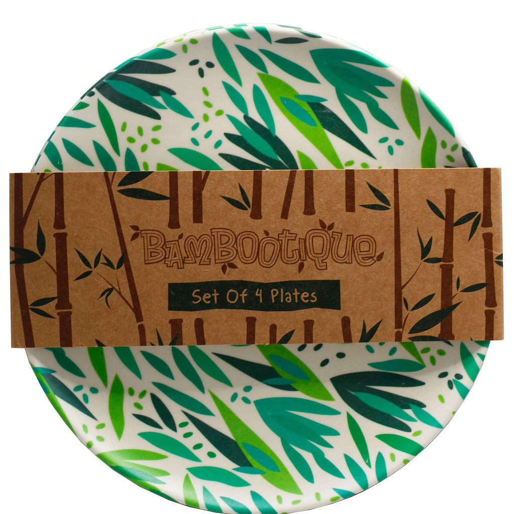 Bamboo Composite Willow Reusable Plate Set - Rainbow Life