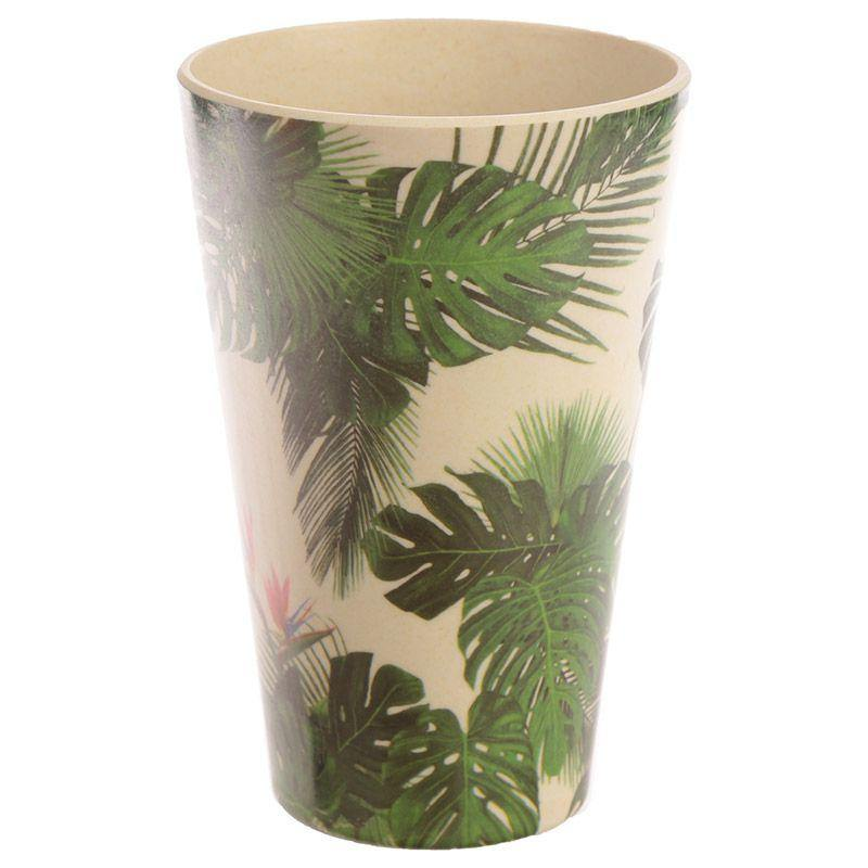 Bamboo Reusable Travel Mug- Tropical Cheese Plant