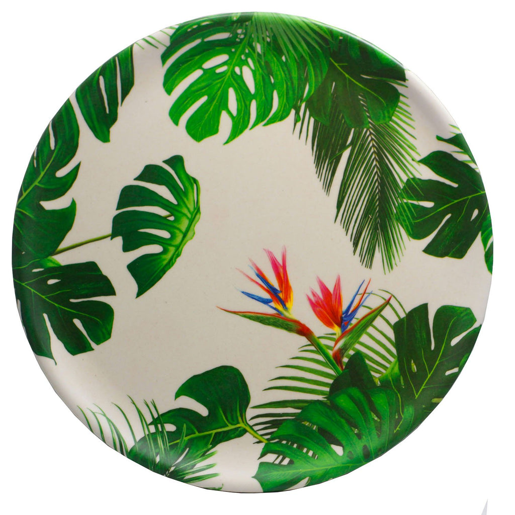 Tropical Cheese Plant Reusable Bamboo Composite Plate - Rainbow Life