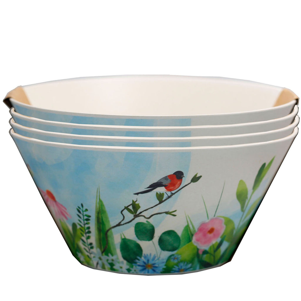 Bamboo Composite Botanical Gardens Reusable Bowl Set - Rainbow Life