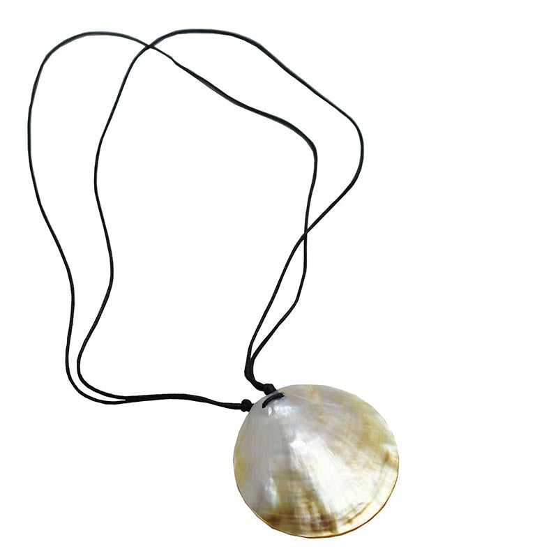 Gold Shell on Black Necklace - Rainbow Life