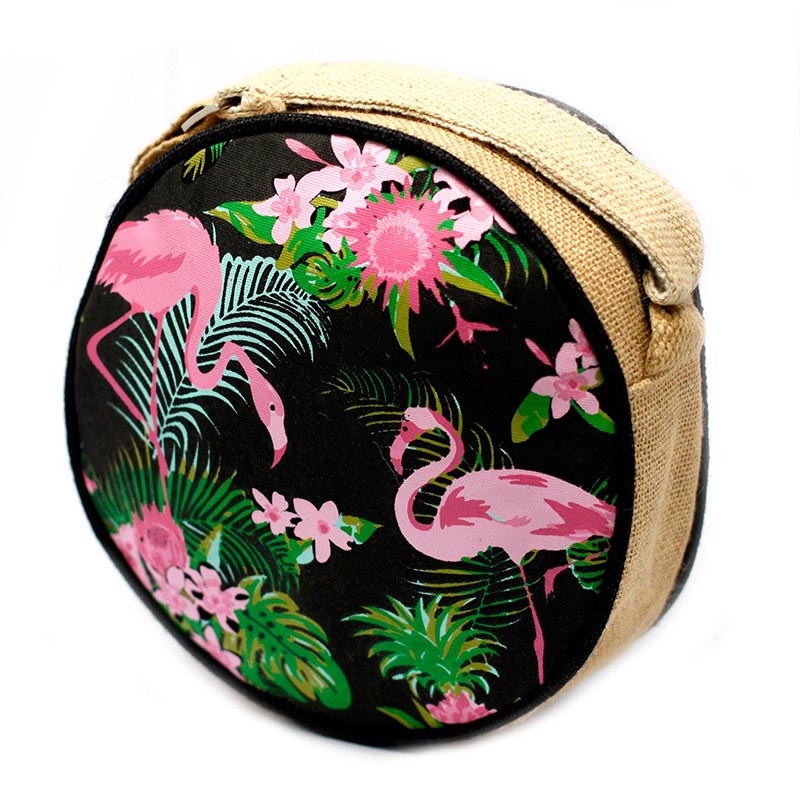 Eco Round Bag – Flamingo Design