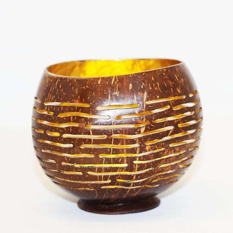 Gold Lacquered Coconut Bowl