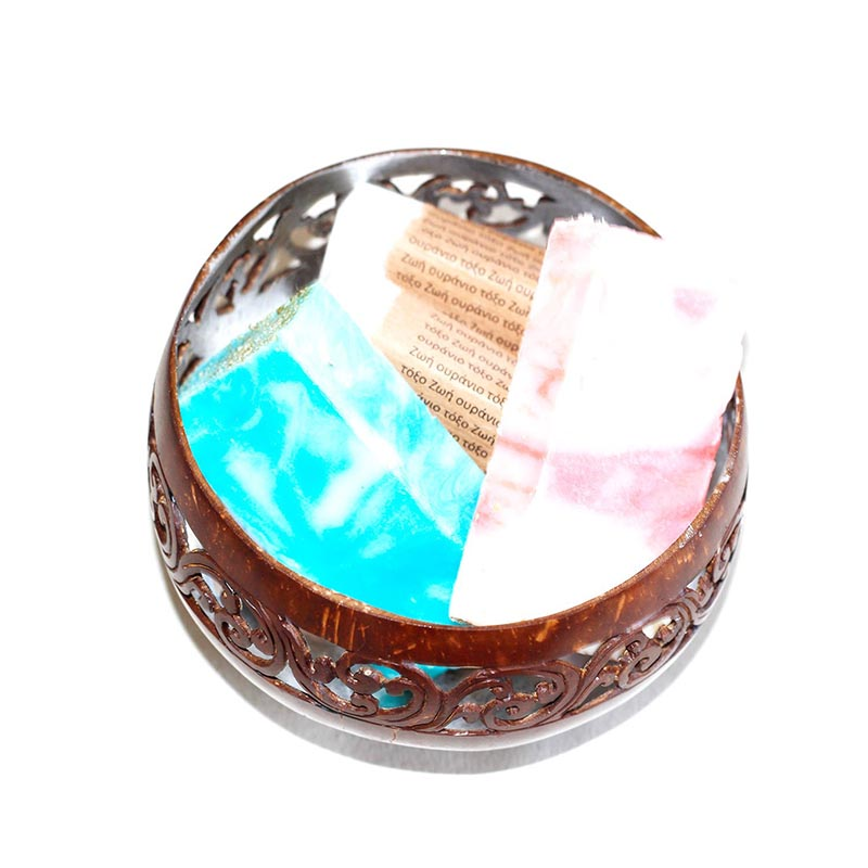 Coconut Bowl Silver Colour Lacquer Inner - Rainbow Life