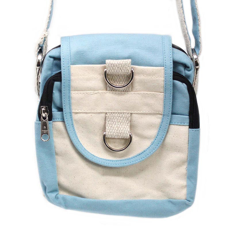 Natural Cotton Travel Bags - Teal - Rainbow Life
