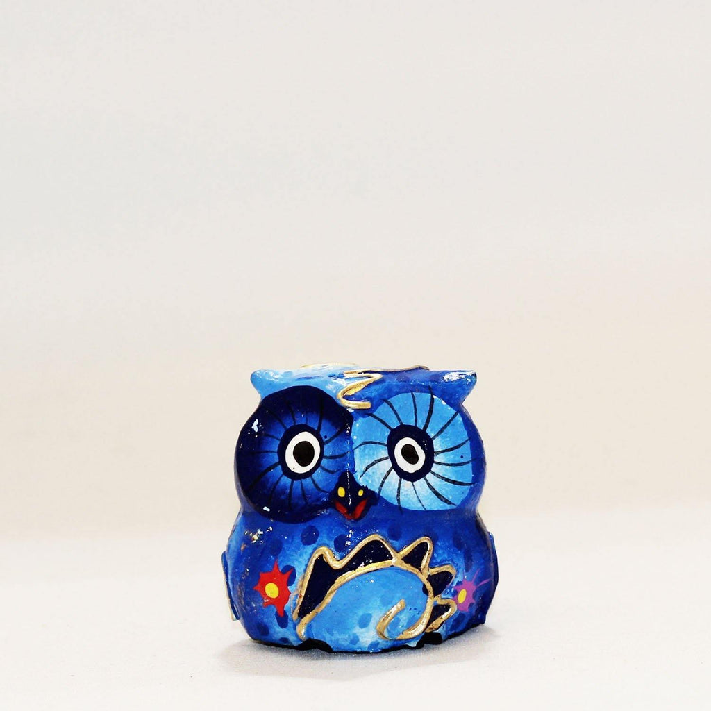 Hand Painted Wooden Owl