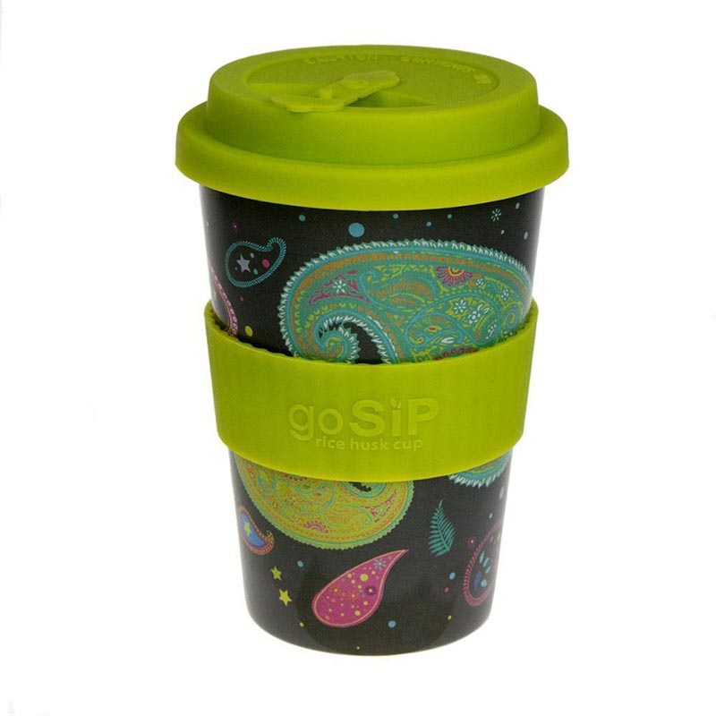 Rice Husk Reusable Cup-Paisley Cosmos