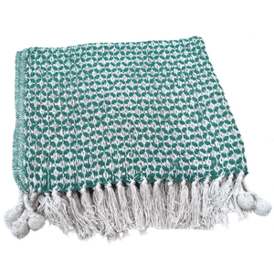 Upcycled Throw/Blanket- Green