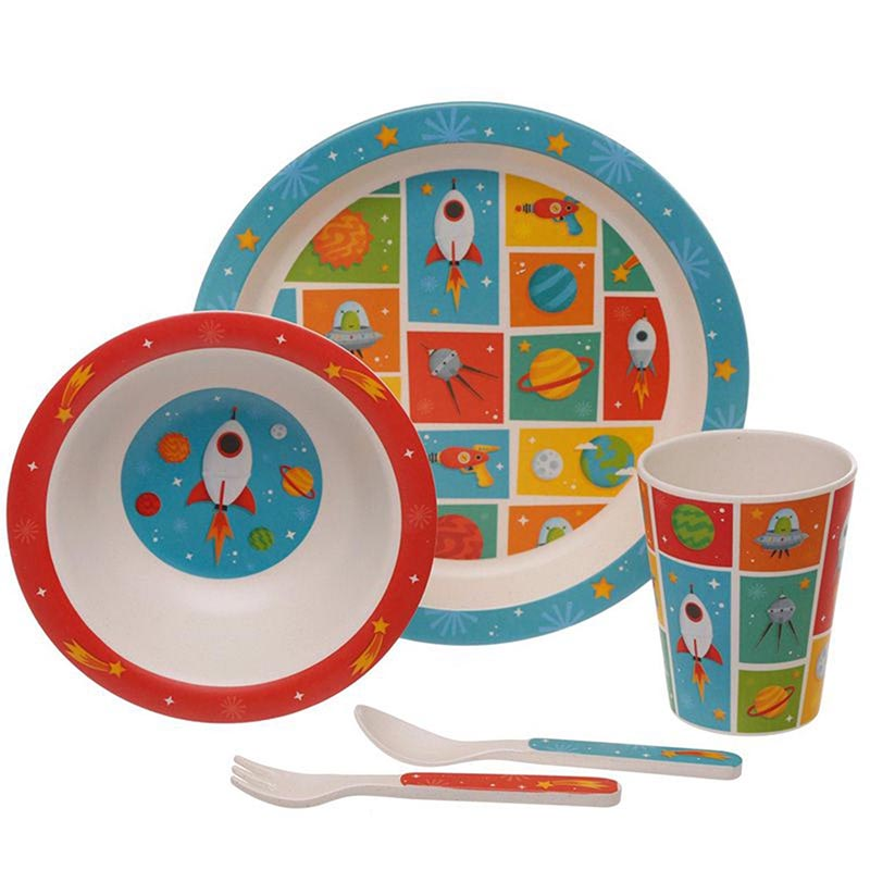 Bamboo Reusable Kids Set- Space Cadet