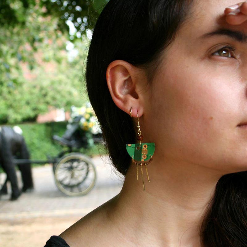 Upcycled Circuit Board Earrings