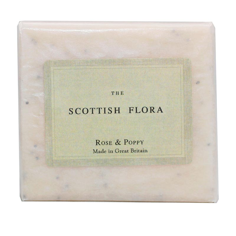 Scottish Flora Rose and Poppy Soap - Rainbow Life