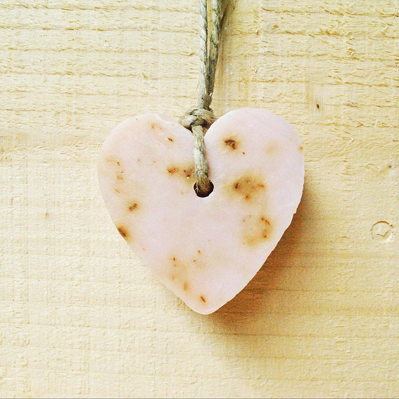 Love Heart Soap -Wild Roses