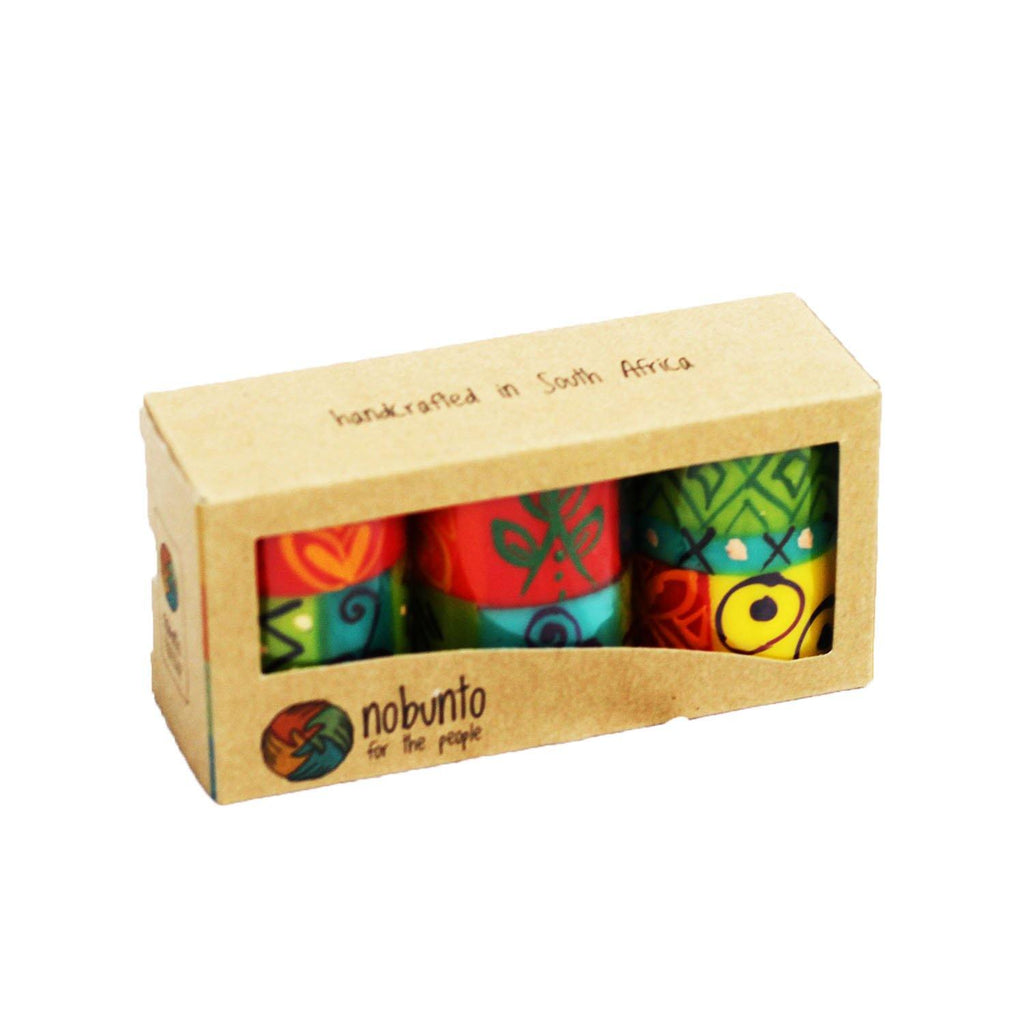 Hand Painted table candles, 3 pack, Matuko