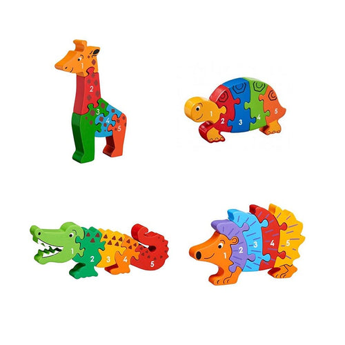Number Jigsaw Puzzles 1-5