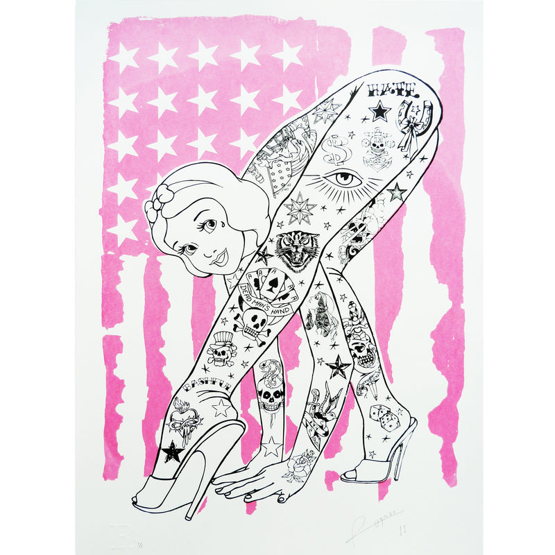 Bendy Pink USA Flag