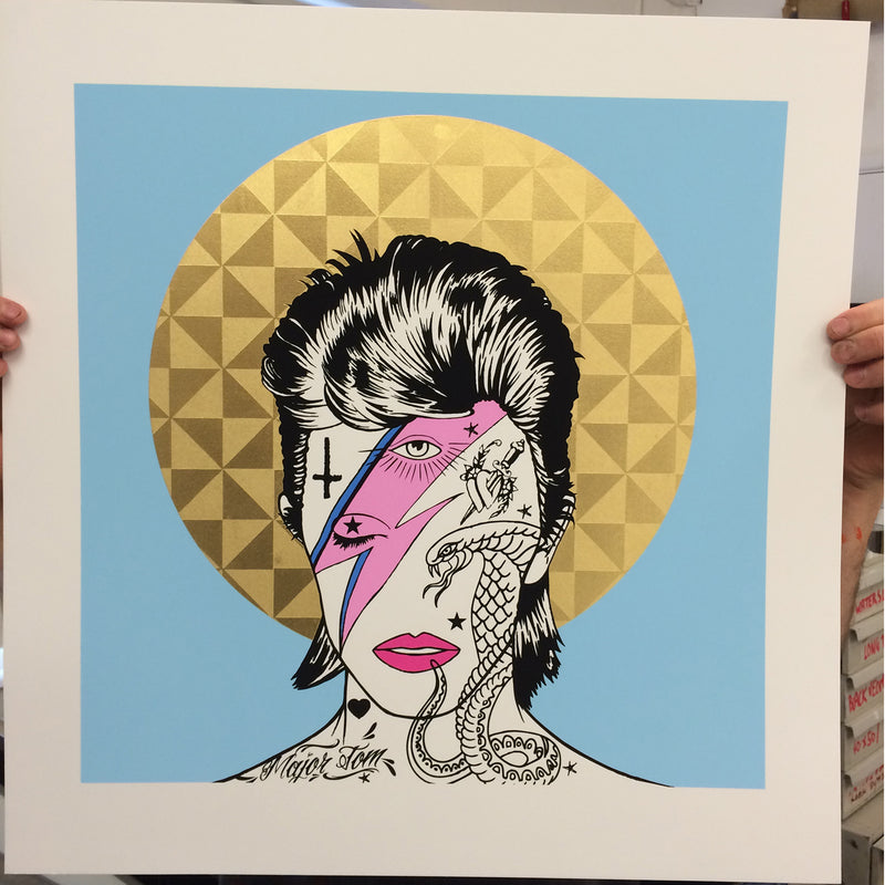 "IconInk 'Ziggy"" David Bowie Print"