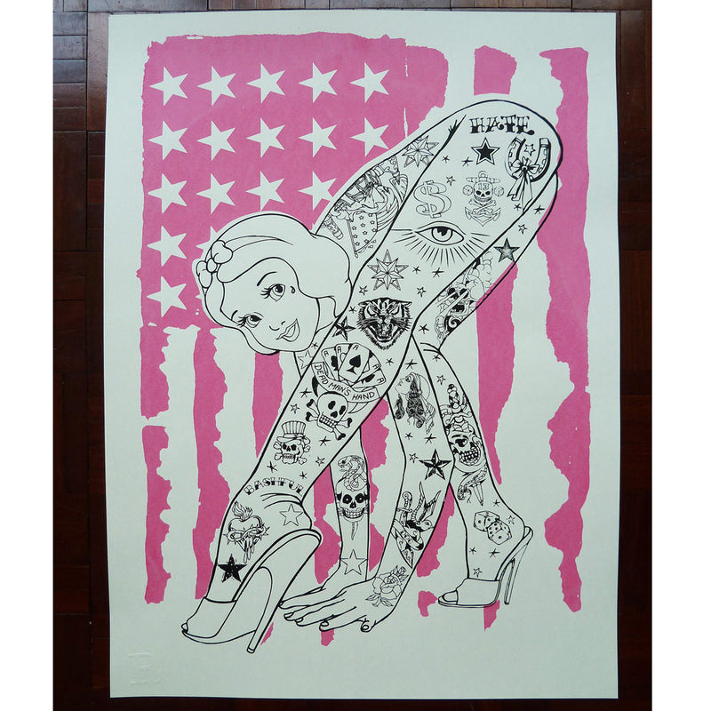 BENDY Flag (Pink) - Print