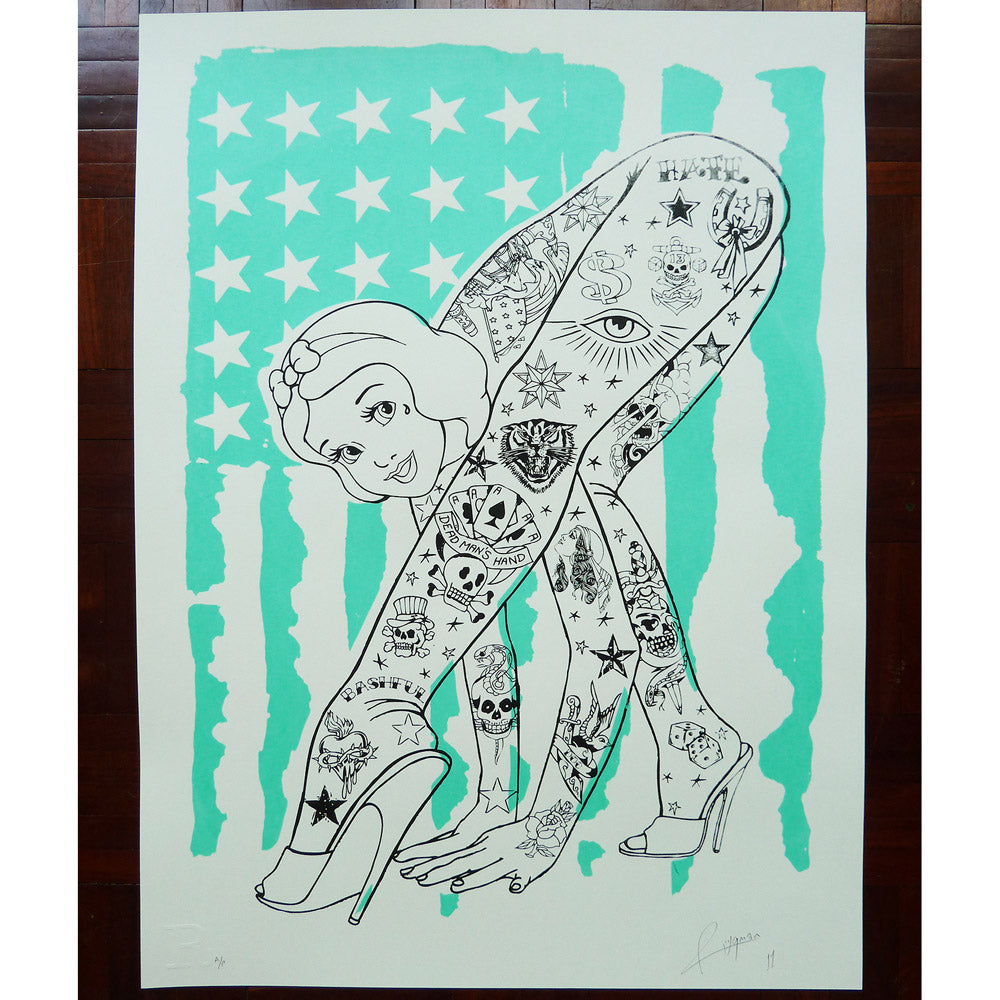 BENDY Flag (Turquoise) - Print
