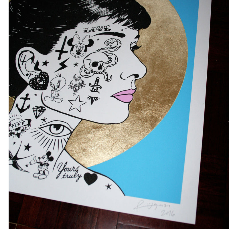 AUDREY PROFILE (Blue) - Print