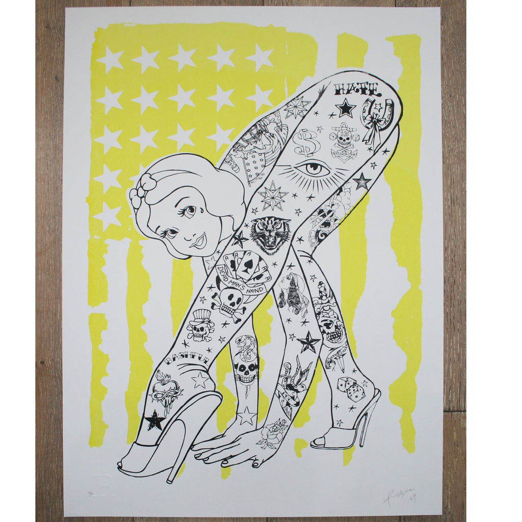 BENDY Flag (Yellow) - Print