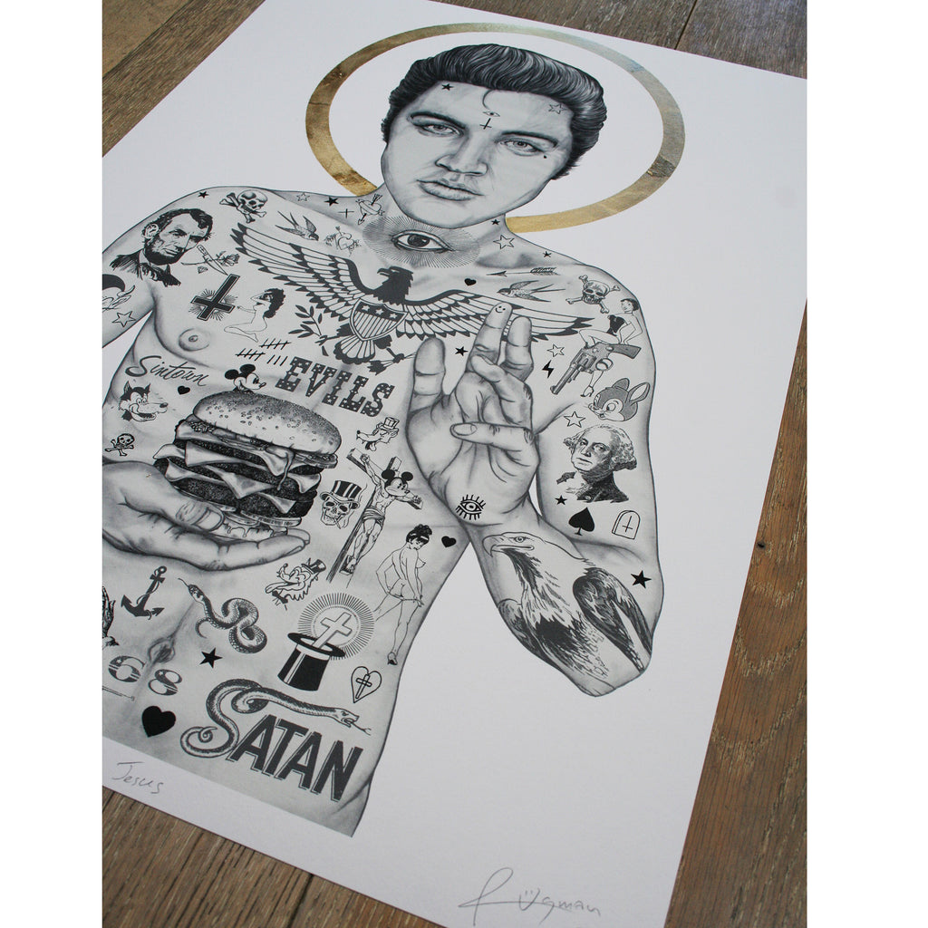 ELVIS BURGER KING (Original) - Print