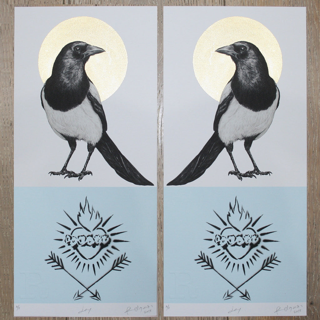 JOY MAGPIE (Blue) - Print