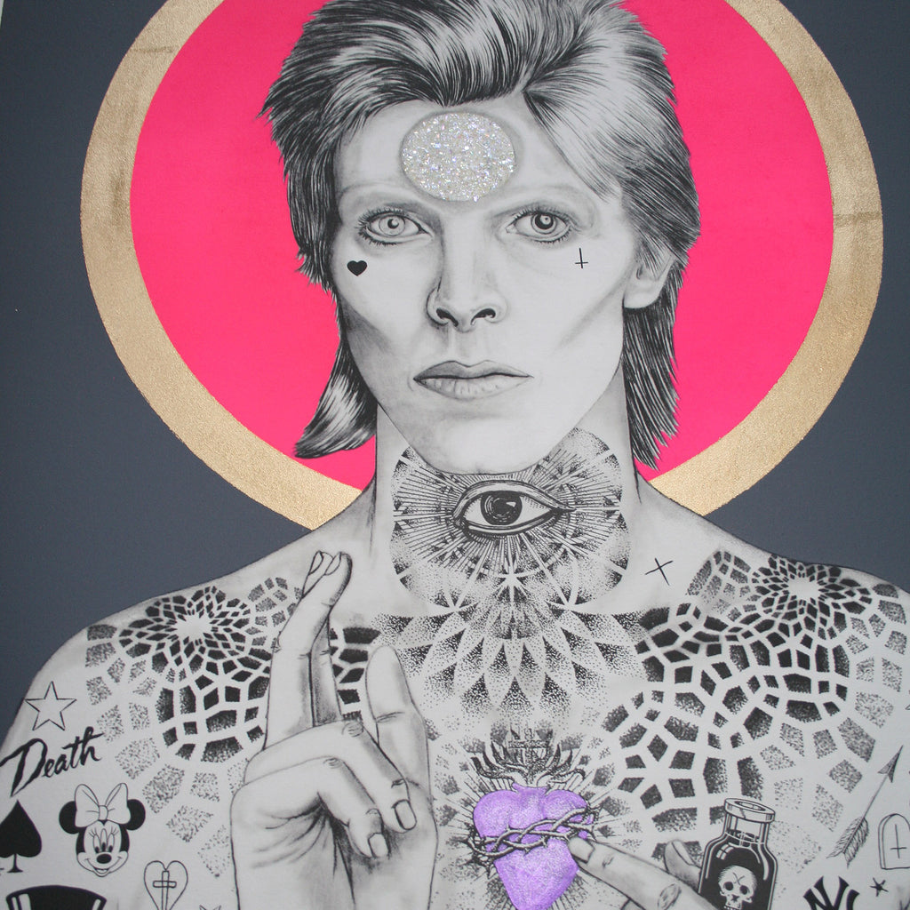 MERCURY BOWIE (Charcoal) - Print