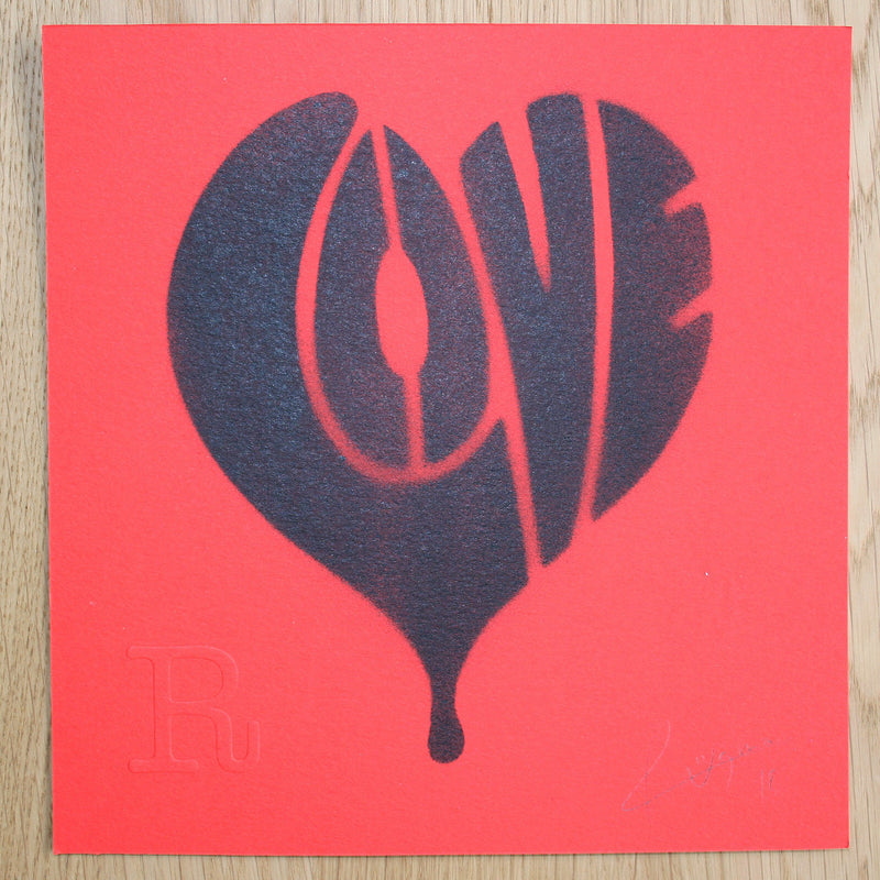 LOVE (Black on Red) - Print