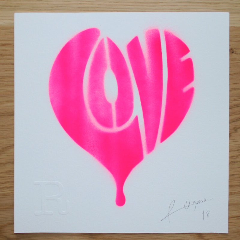 LOVE (Neon Pink on White) - Print