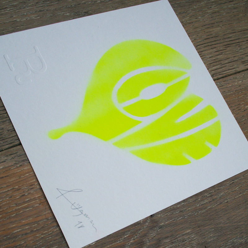 LOVE (Neon Yellow on White) - Print