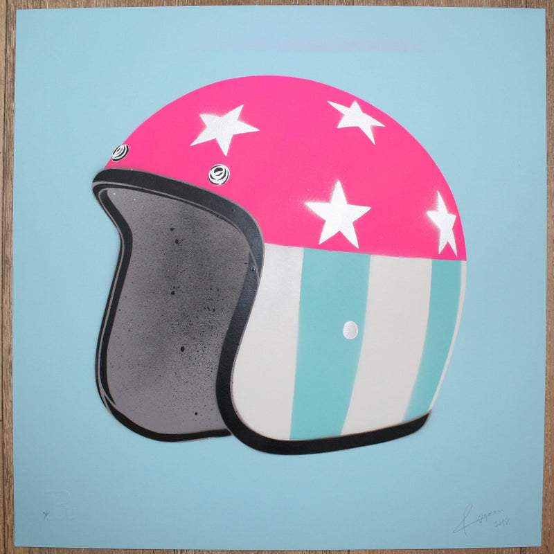 EASY RIDER (Silver Stars on Blue) - Print
