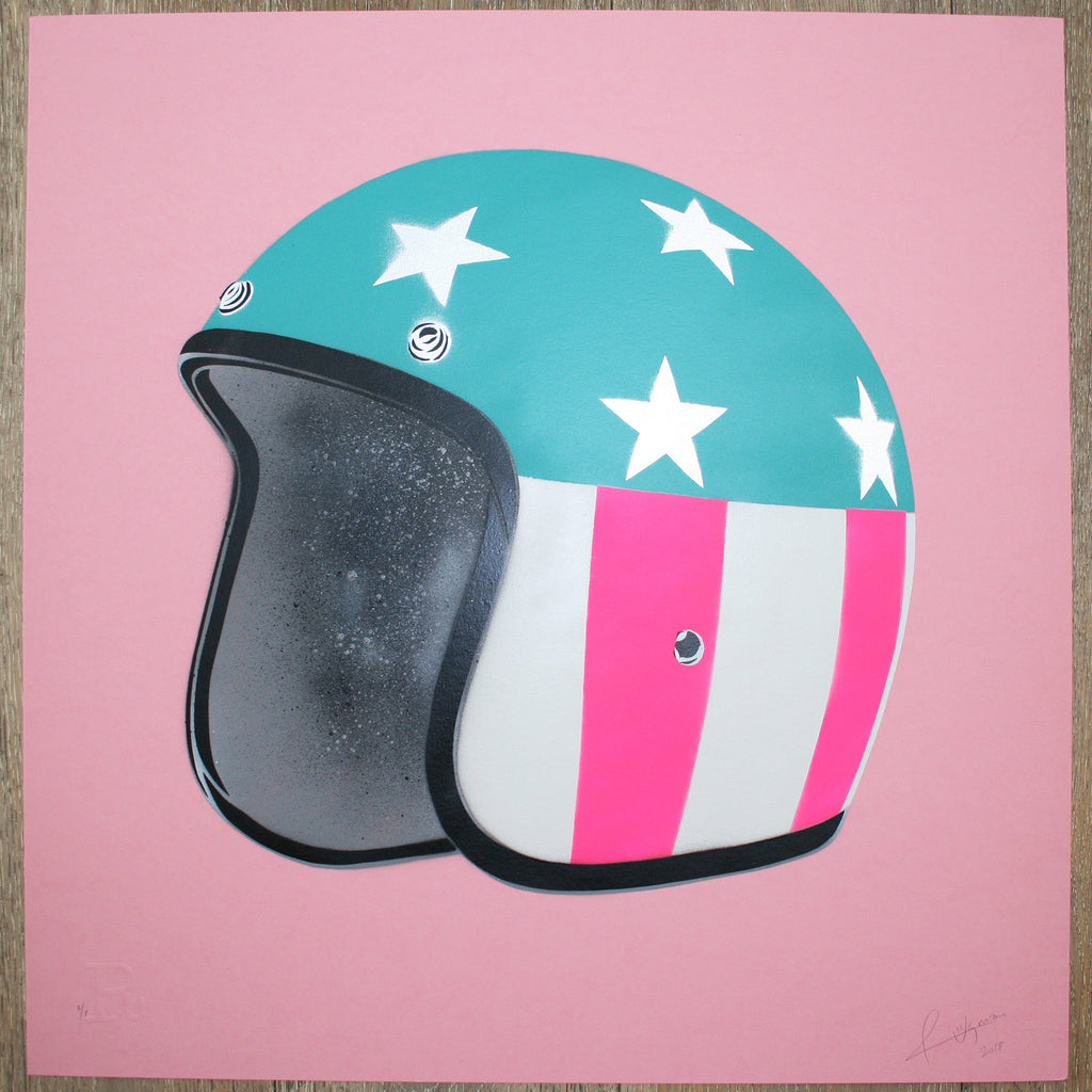 EASY RIDER (Silver Stars on Pink) - Print