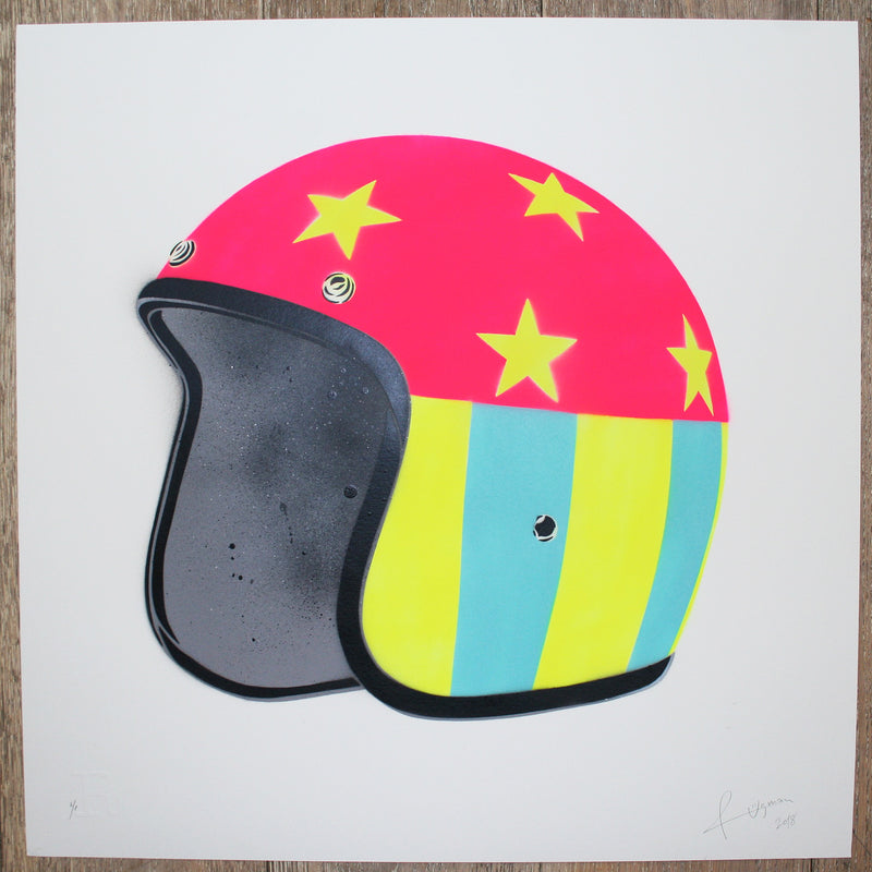 EASY RIDER (Yellow Stars on White) - Print