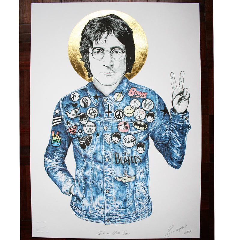 "JOHN ""Working Class Hero"" - Print"