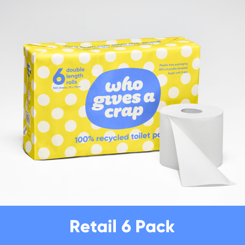 Classic Recycled Toilet Paper - Retail 6 Packs - 48 Rolls