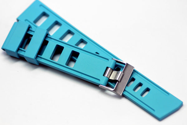 22mm Vanilla Scented Natural Rubber Strap - AquaBlue
