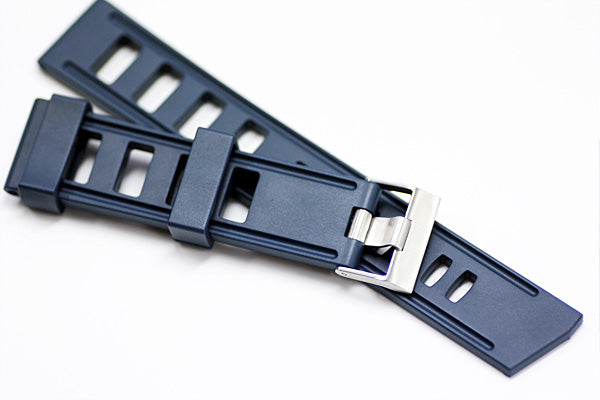 20mm Vanilla Scented Natural Rubber Strap - Blue - OBRIS MORGAN TIMEPIECES