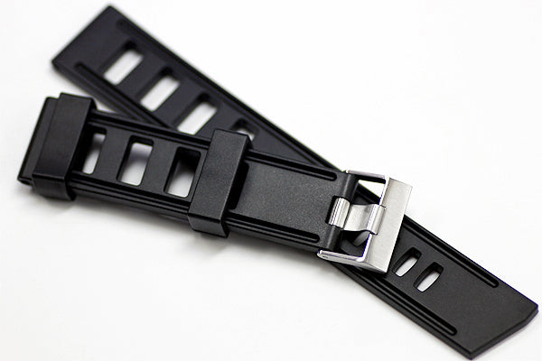 20mm Vanilla Scented Natural Rubber Strap - Black - OBRIS MORGAN TIMEPIECES
