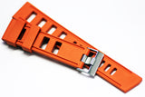 22mm Vanilla Scented Natural Rubber Strap - Orange - OBRIS MORGAN TIMEPIECES